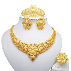 Набор ювелирных изделий из ювелирных изделий, ожерелье, серьги браслеты, кольца, для женщин, для свадьбы, наборы ювелирных изделий
