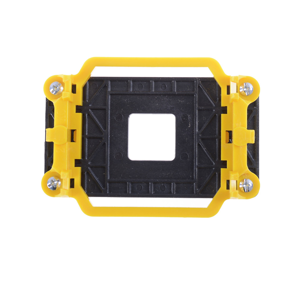 1pcs Yellow And Black <font><b>CPU</b></font> Fan Cooler Cooling Retainer Retention Base Bracket For AMD <font><b>Socket</b></font> AM3+ AM2+ AM2 <font><b>940</b></font> image