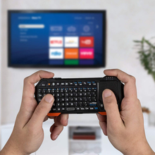 SeenDa Mini Bluetooth Keyboard Wireless Portable Light weight (QWERTY Keypad)  with built in Touchpad works with Apple TV PS4