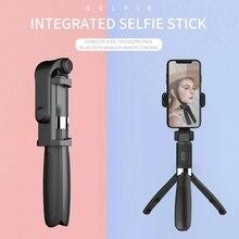 1 قطعة 2020 جديد L01 البسيطة متعددة الوظائف العالمي بلوتوث Selfie عصا ترايبود Monopod ل فون الروبوت ل بث مباشر