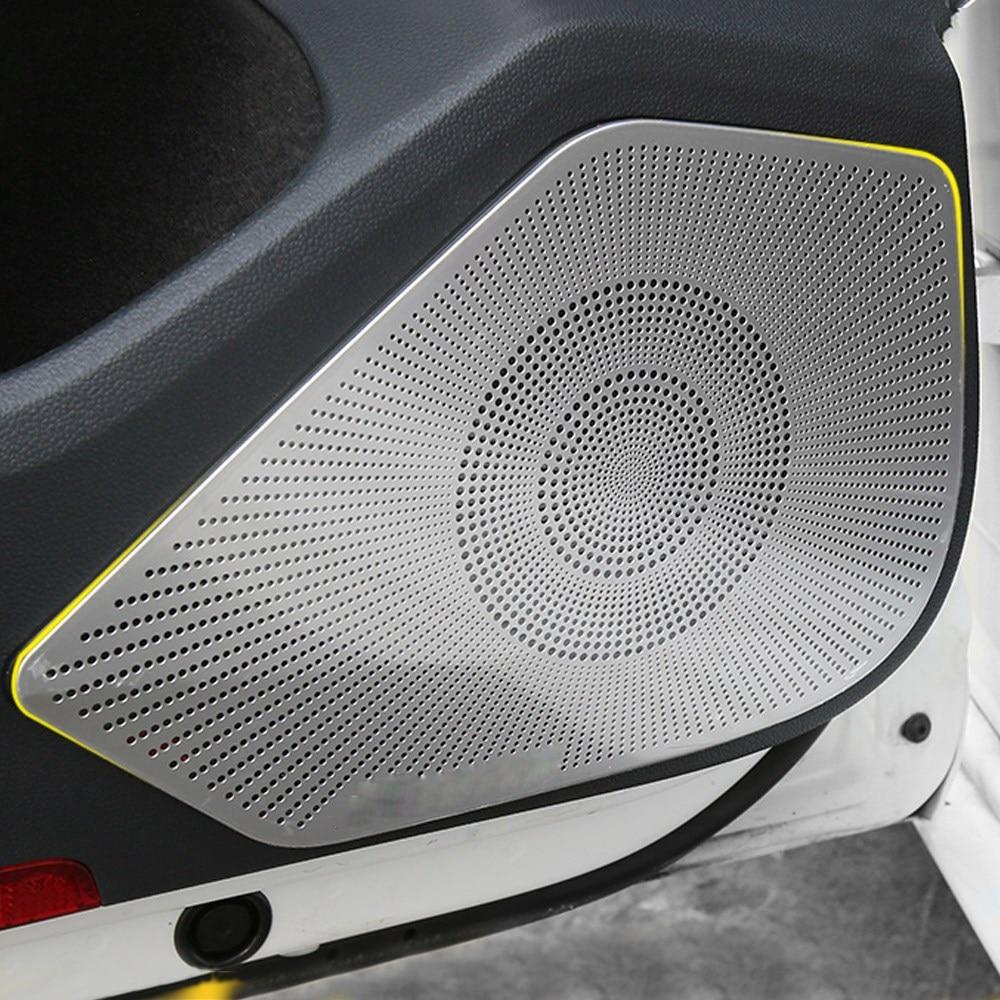 For VW Volkswagen Arteon 2017 2018 2019 Car Door Loudspeaker Sound Chrome Speaker Cover Trim Frame Sticker Interior Accessories