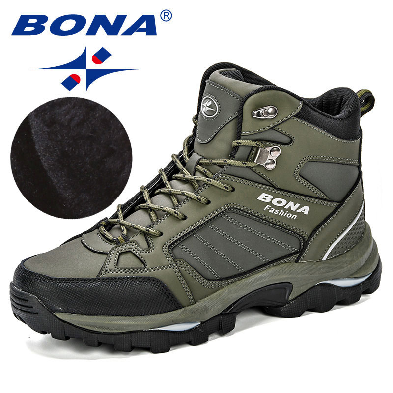 BONA Men Boots Short Comfy Autumn Outsole Plush Popular Spring Anti-Skidding Durable