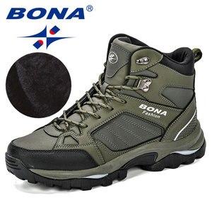 Image 3 - BONA Men Boots Anti Skidding Leather Shoes Men Popular Comfy Spring Autumn Men Shoes Short Plush Snow Boots Durable Outsole