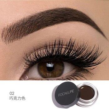 FOCALLURE Professional Eyebrow Gel 5 colors Waterproof  Eye Brow Enhancer Cream  Makeup with Brush
