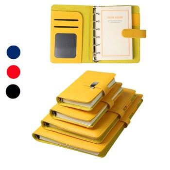 Мини-дневники из искусственной кожи, маленький офисный карман, красные/синие/красные/черные, 2020