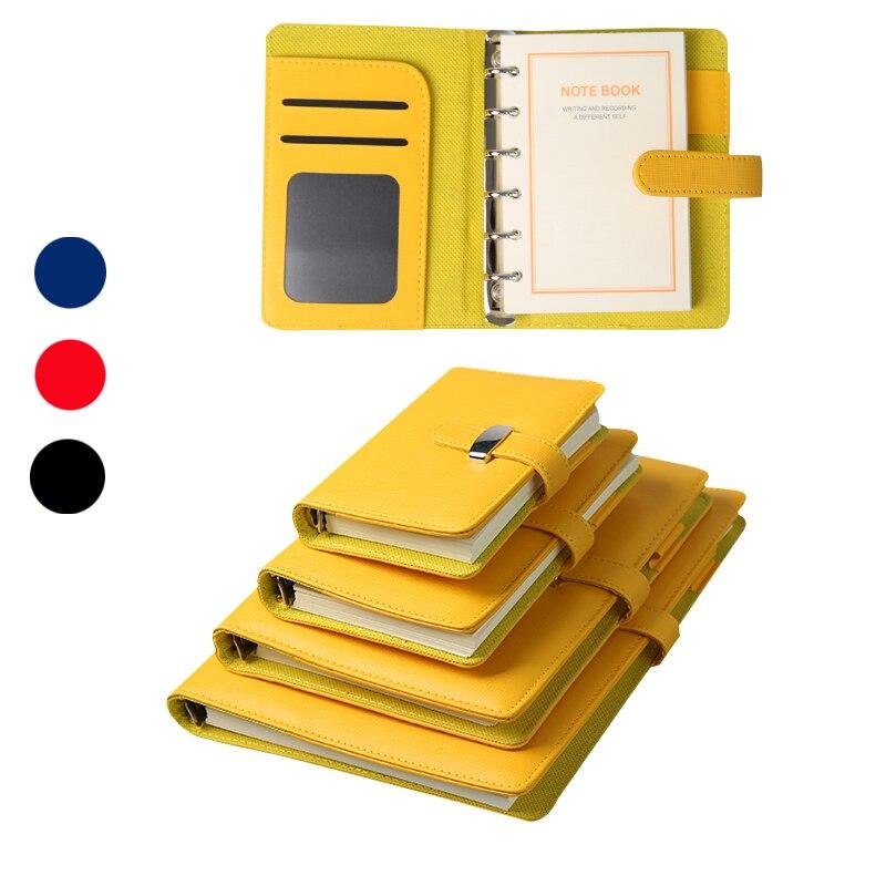 2020 couro do plutônio a7 mini diários bolso pessoal pequeno escritório presentes vermelho/azul/vermelho/preto