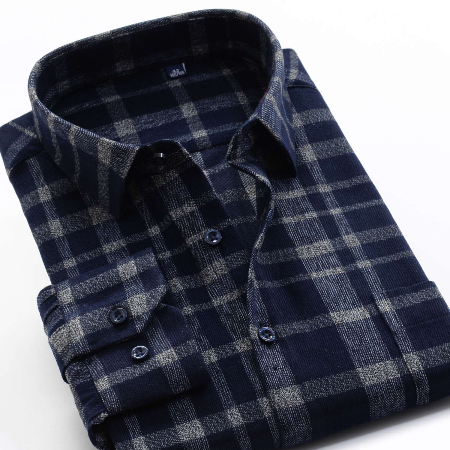 Image 3 - Mens Thick Plaid Shirt 2019 New Classic Style Fashion Casual  Loose Long Sleeved Sanded Shirt Male Large Size 7XL 8XL 9XL 10XLCasual  Shirts