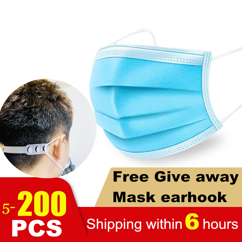 10PCS Disposable Masks 3-layer Filter Masks Mask Filters Safety Breathable Masks