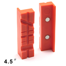 2pcs 4.5'' Magnetic Vise Protector Protective Jaws Face Pads Multi-Groove Design Plastic 115*30*16mm 2019 New 2019 S12