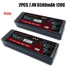 2PCS VARCS Lipo Batteries 2S 7.4V 6500mAh 120C/240C HardCase for RC 1/8 /10 Car Off-Road Buggy Truck Boats Drone salash Parts