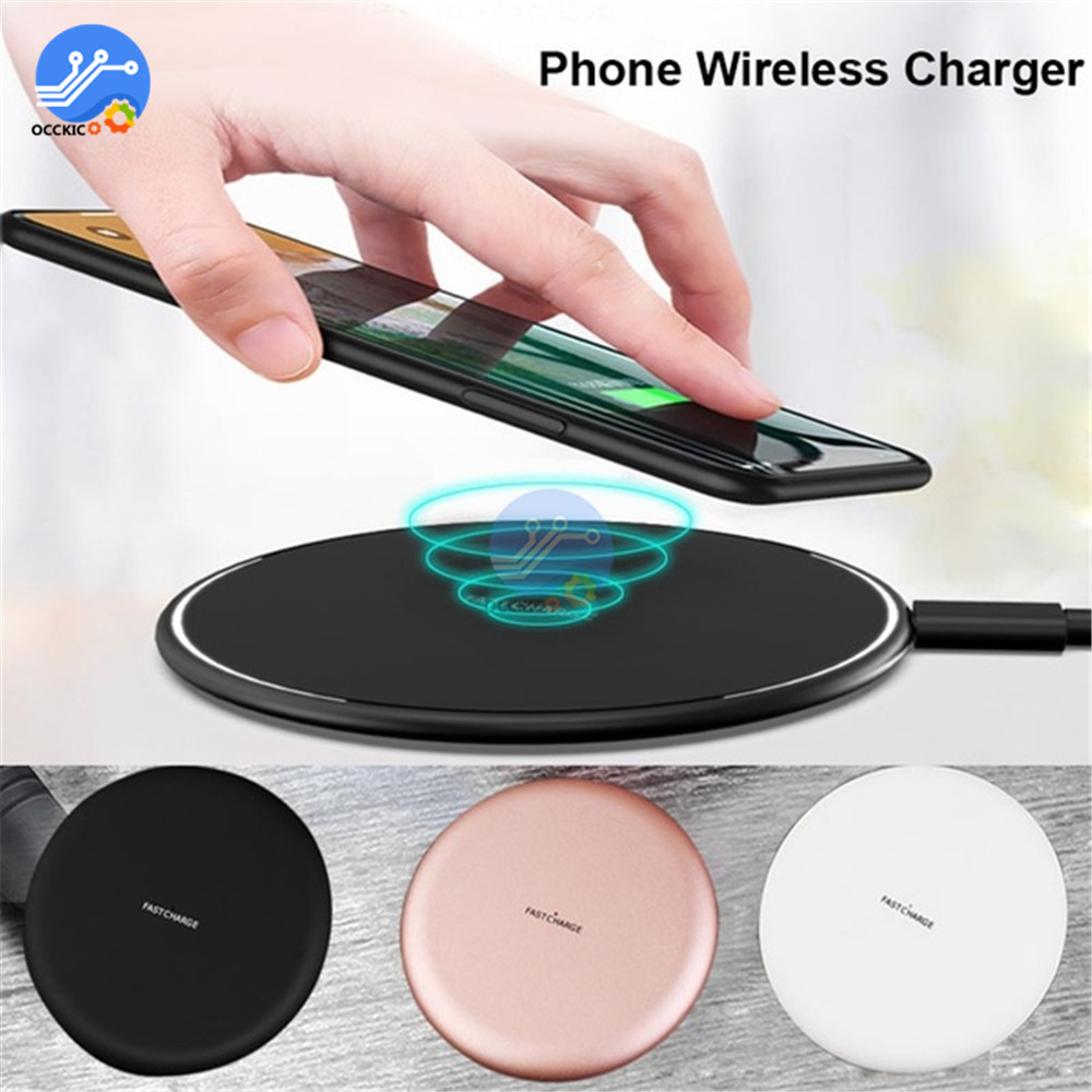10W N5 Wireless Fast Charger For Samsung Galaxy Wireless Quick Charging Adapter Pad for iPhone XS Max XR X 8 Plus(China)