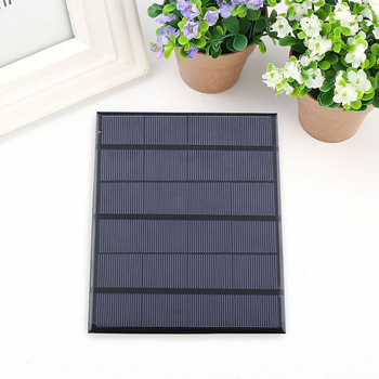 Newest Solar Panel System Charger 3.5W 6V Charging for Mobile Phone Power Bank Camping garden decoration 1