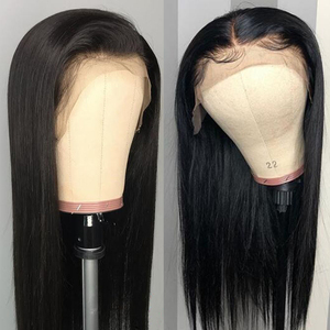 Image 4 - 180% prosto koronki przodu włosów ludzkich peruk z gumką brazylijski Remy przejrzyste koronki przodu włosów ludzkich peruk 13x4 dla kobiet