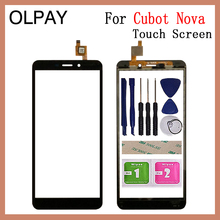 """OLPAY 5.5"""" Mobile Phone Touchscreen For Cubot Nova Touch Screen Glass Digitizer Sensor Repair Tools Free Adhesive And Wipes"""