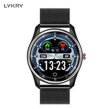 "LYKRY MX9 חכם שעון גברים נשים אק""ג קצב לב צג לחץ דם PPG חכם צמיד ספינה על ידי RU ES עבור xiaomi huawei PK DT78"