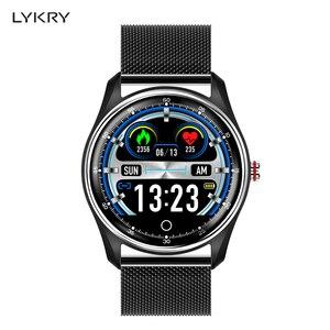 Image 1 - LYKRY MX9 montre intelligente hommes femmes ECG fréquence cardiaque moniteur de pression artérielle PPG Bracelet intelligent navire par RU ES pour xiaomi huawei PK DT78