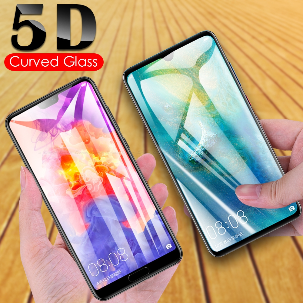 5D Curved Tempered Glass For HuaWei Mate 30 RS View 20 X 5G Honor P20 P30 Pro Lite Full Cover Screen Protector Protective Film