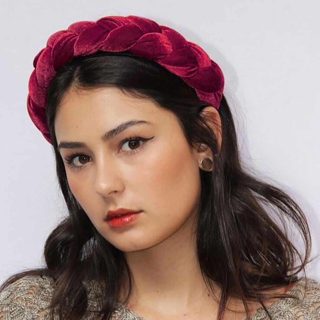 Women Girls Headwear Headband Women Pure Color Cloth Hair Band Hair Hoop Beauty