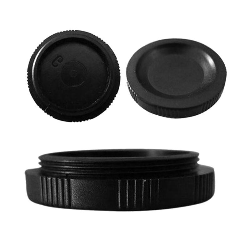 5 piezas de plástico CCD tapa de polvo C-montaje cubierta protectora de polvo para CCTV película vigilancia Cámara accesorios de lente