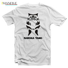 AHSOKA TANO STAR WARS T-SHIRT S - 3XL, Super Heroes, Heroes, T-Shirt Free shipping  Harajuku Tops   Classic Unique T Shirt custom star war ahsoka tano t shirt for men designer summer autumn crew neck 100% cotton short sleeve t shirt sweatshirts free