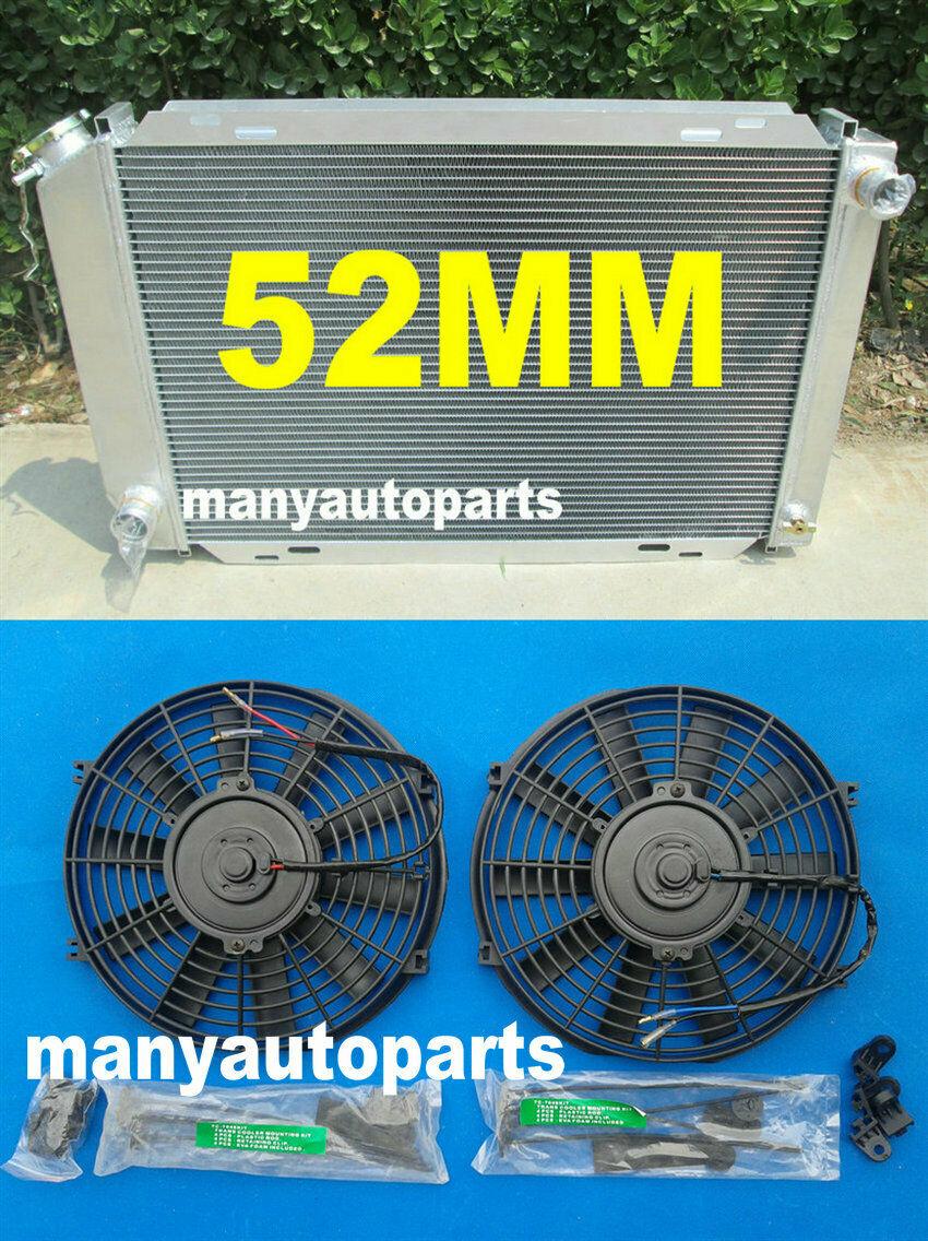 LX 5.0L V8 302 52MM Aluminum radiator for 1979-1993 For FORD MUSTANG GT