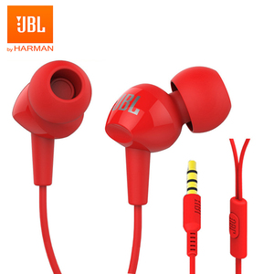 JBL C100Si Original 3.5mm Wired Stereo Earphones Deep Bass Music Sports Headset Running Earphone Hands-free Call with Microphone(China)
