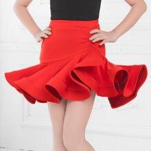 2019 New Latin Dress Sexy Show Costume Tango Skirt  Red Fringe Dress fringe cami dress
