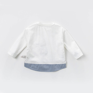Image 2 - DBJ13529 1 דייב bella תינוק ילד הדפסת חולצה פעוט כותנה חולצות ילדי אביב טיז בסוודרים ארוך שרוול בגדים