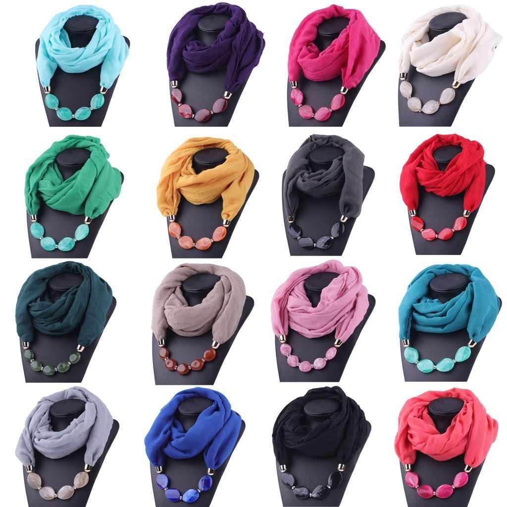 2019 neue Mode schal frauen luxus Baumwolle Leinen Halskette Anhänger Ethnische Stil Weiche Halskette Schal foulard femme