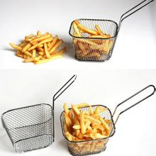 French Fries Deep Frying Fryer Chicken Basket Stainless Steel Food Filters Cooking Tools Apples pie fences  Durable