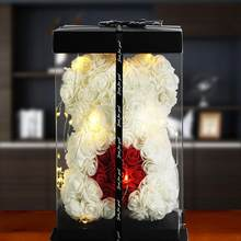 Presente do dia dos namorados de alta qualidade 25cm vermelho ursinho rosa decoração artificial presente de natal presente do dia dos namorados da mulher presente