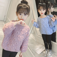 Autumn Winter Baby Girls Sweater Toddler Girl Pullovers Cashmere Teenage Kids Christmas Sweaters Children Knit Jumper Clothes girls sweaters knit tassel sweater dresses kids girls knitting fashion jumper dress kid verkleed kostuum meisjes clothes yl468