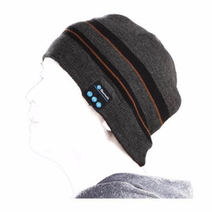 Беспроводная вязаная шапка Bluetooth V4.2 в полоску, зимняя уличная шапка для бега, гарнитура с микрофоном, наушники, музыкальная повязка, Спортив...