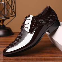 Merkmak Oxfords Leather Men's Shoes Lace Up Breathable Forma