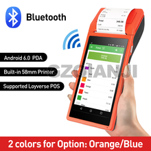 PDA อุปกรณ์ Cammera ไร้สาย Android Data Collector Handheld POS terminal คอมพิวเตอร์ PDA ความร้อน Bluetooth เครื่องพิมพ์ 58 มม.PDA