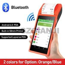 PDA gerät Cammera Wireless Android Daten Collector Handheld POS terminal Computer PDA Thermische Empfang Blurtooth Drucker 58mm PDA