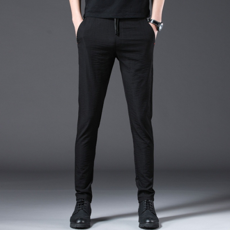 MEN'S Trousers Korean-style Trend Versatile INS Casual Pants Men's Loose-Fit Slim Fit Pants Capri Sports Pants Popular Brand