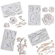 Camellia Peony Rose Magnolia Cherry Blossom Silicone Mold Fondant Cake Decorating Tool Sugarcraft Chocolate Baking Tool For Cake