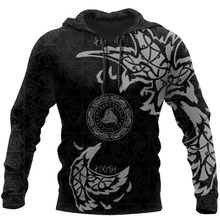 Viking Tattoo All-Over Print 3D Hoodie Harajuku Fashion Sweatshirt Unisex Casual Tops print all over me легинсы