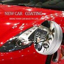 Novo 2 pçs carro revestimento de cera anti risco carro polonês creme descontaminação polimento cera zero removedor pintura cuidados do carro estilo