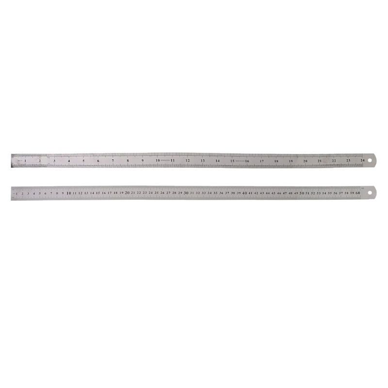 Stainless Steel Double Side Measuring Straight Edge Ruler 60cm Silver X6HB