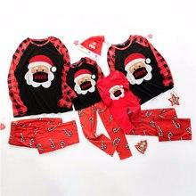 Зимние новые одинаковые комплекты для семьи пижамный комплект