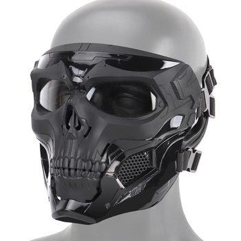 Halloween Skeleton Airsoft Maske Full Face Schädel Cosplay Maskerade Partei Maske Paintball Military Kampf Spiel Gesicht Schutz Mas