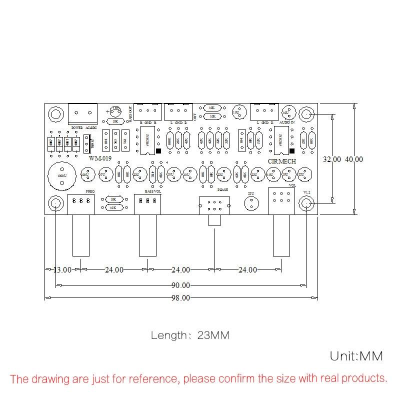 Carte de préampli de caisson de basses 2.1 canaux carte de préamplificateur de filtre passe-bas Ne5532 préamplificateur de basse de filtre passe-bas