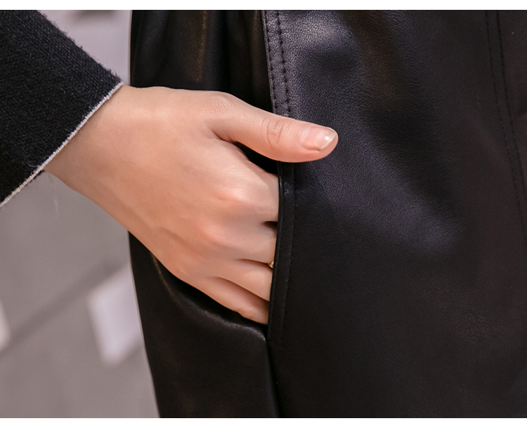 Elegant Leather Shorts Fashion High Waist Shorts Girls A-line Bottoms Wide-legged Shorts Autumn Winter Women 6312 50 103