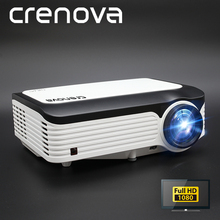 CRENOVA הכי חדש 1920*1080P אנדרואיד מקרן עבור 4k וידאו Led מקרן עם אנדרואיד 7.1 OS Wifi Bluetooth מלא HD Beamer