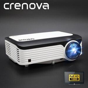 Image 1 - CRENOVA הכי חדש 1920*1080P אנדרואיד מקרן עבור 4k וידאו Led מקרן עם אנדרואיד 7.1 OS Wifi Bluetooth מלא HD Beamer