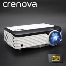 Crenova projetor 1920*1080p, projetor android para vídeo led em 4k com android 7.1 os, wifi e bluetooth beamer full hd