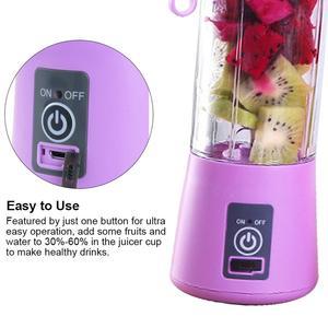 Image 4 - Portable Blender 400ML 6Blade USB Mixer Electric Juicer Machine Smoothie blender Mini Food Processor Personal  Juice Blender Cup