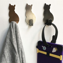 2pcs Self Adhesive Wall Hooks Cat Pattern Hangers For Bathroom Kitchen Stick on Wall Hanging Door Clothes Towel Racks Crochets(China)